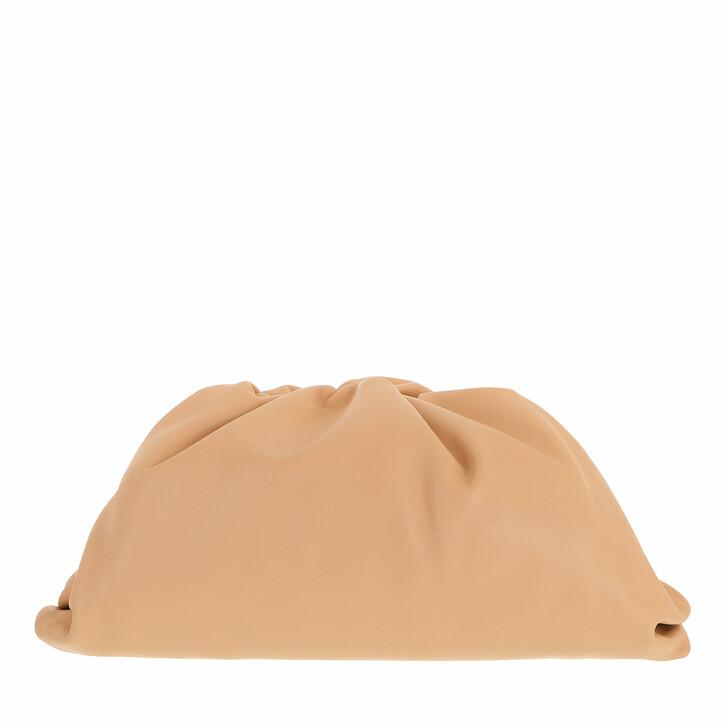 bags, Bottega Veneta, Pouch Bag Leather Almond Gold