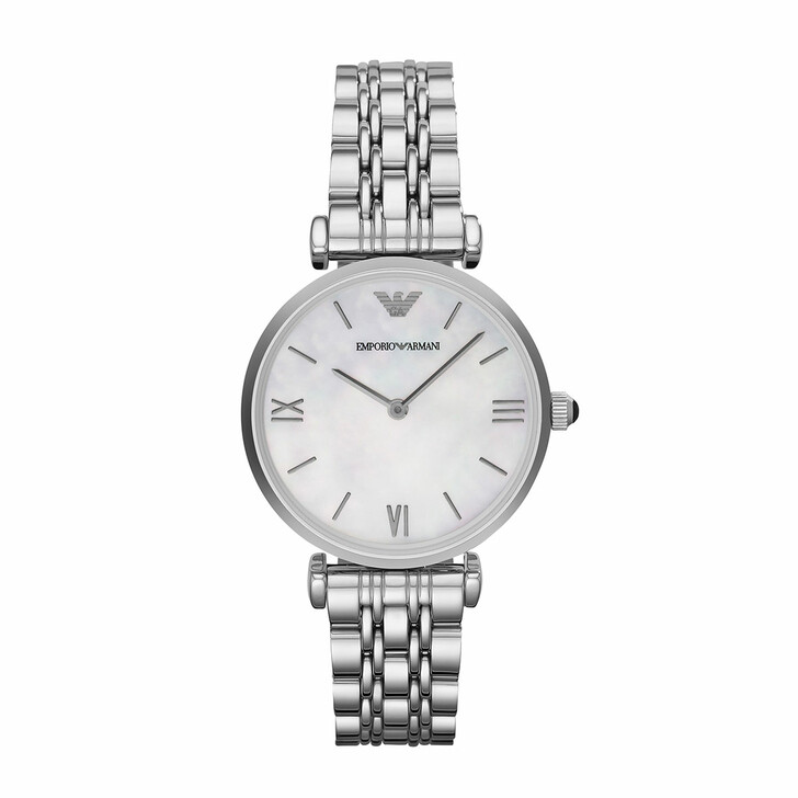 Uhr, Emporio Armani, Women's Two-Hand Stainless Steel Watch Silver