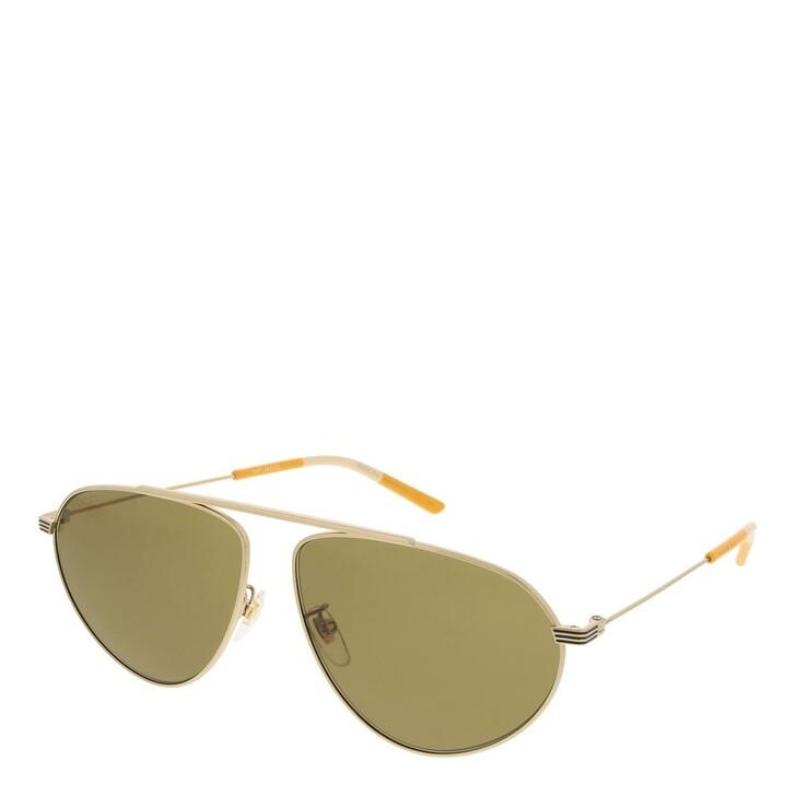 sunglasses, Gucci, GG1051S-002 61 Sunglass Man Metal Gold-Gold-Brown