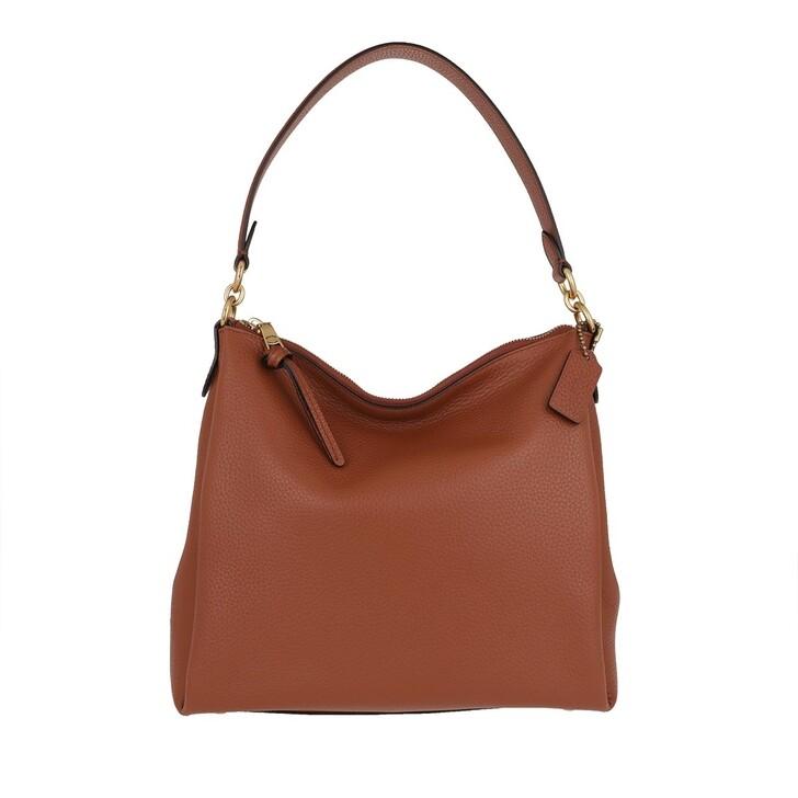 bags, Coach, Soft Pebble Leather Shay Shoulder Bag 1941 Saddle