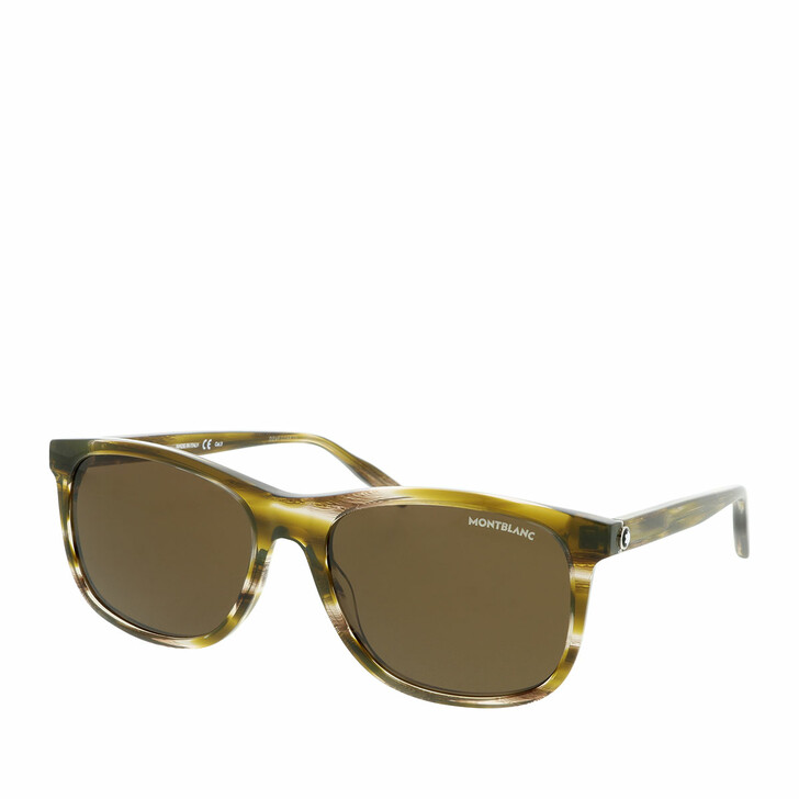 Sonnenbrille, Montblanc, MB0013S-002 56 Sunglass MAN ACETATE HAVANA