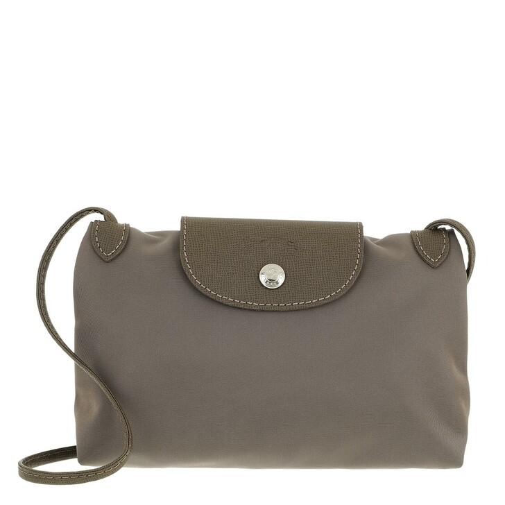 bags, Longchamp, Le Pliage Néo Crossbody Taupe