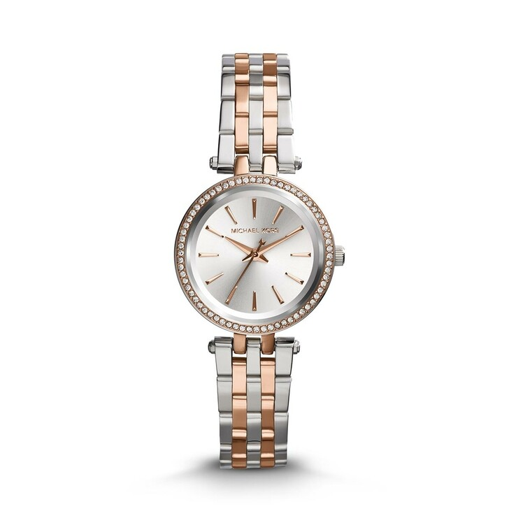 watches, Michael Kors, Petite Darci Ladies Metals Watch Silver/Rosegold