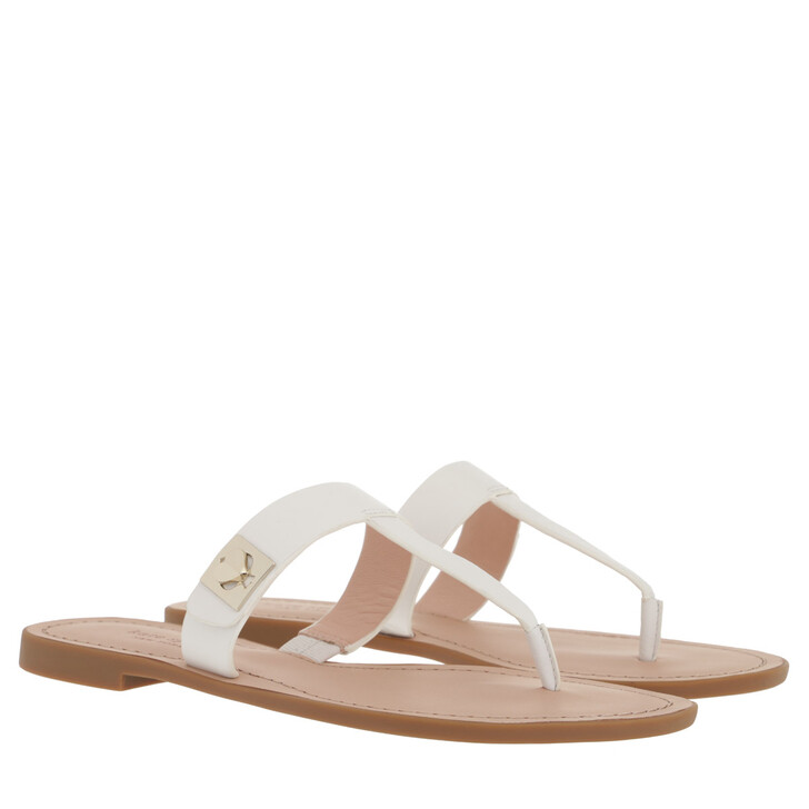 shoes, Kate Spade New York, Cyprus Turnlock Sandal Optic White