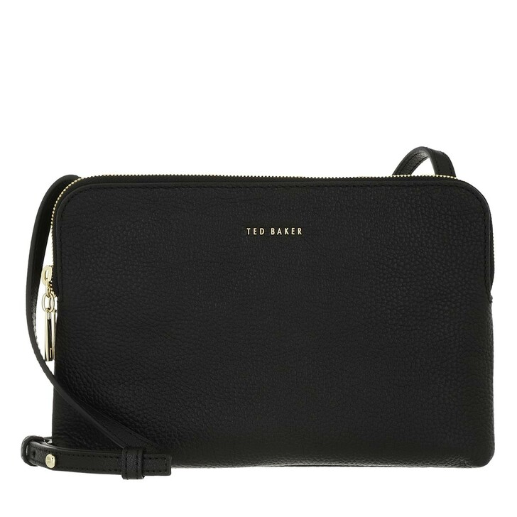 Handtasche, Ted Baker,  Soft Leather Double Pouch Crossbody Black