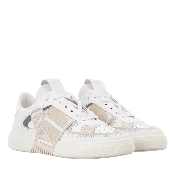 Schuh, Valentino Garavani, VL7N Bands Sneaker Calfskin White/Beige