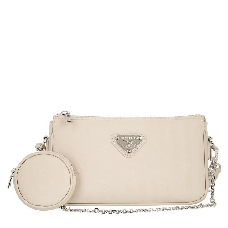 bags, Maison Mollerus, Zell Pocketbag Crossboy Pearl Silver