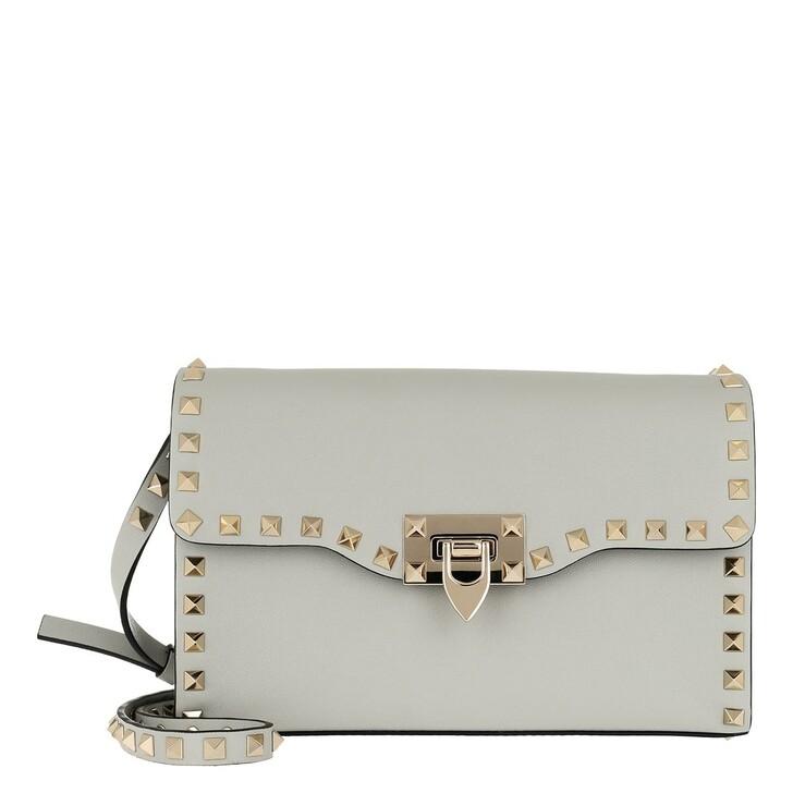 bags, Valentino Garavani, Rockstud Crossbody Bag Opal Grey