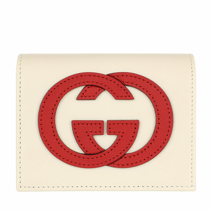 wallets, Gucci, Card Case Leather Mystic White