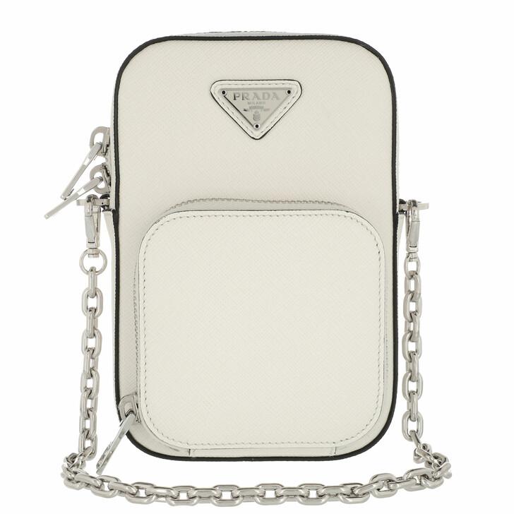 bags, Prada, Pocket Crossbody Bag White