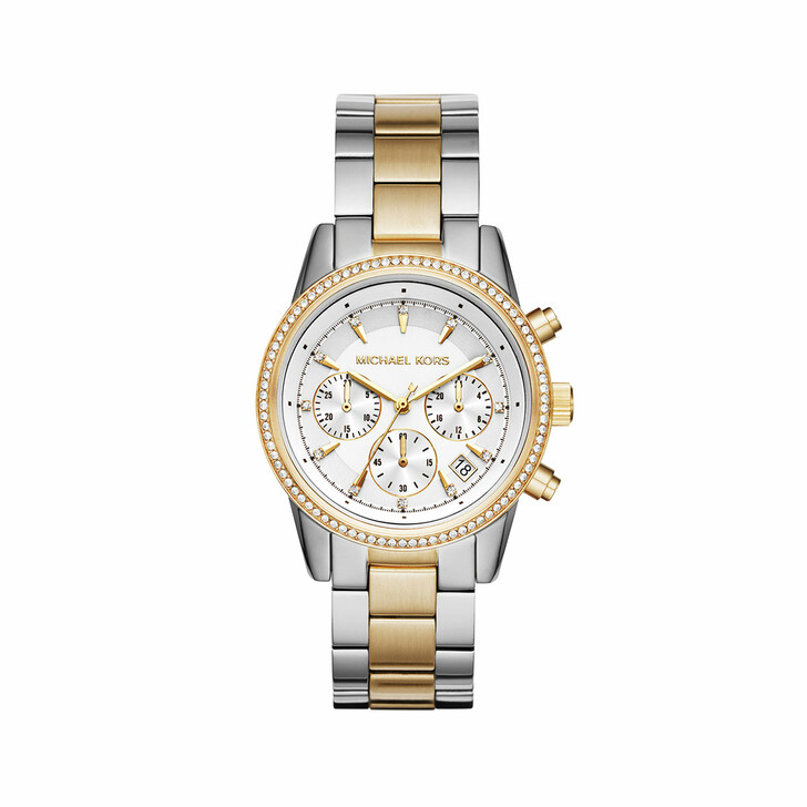 Uhr, Michael Kors, MK6474 Ritz Watch Silver/Gold