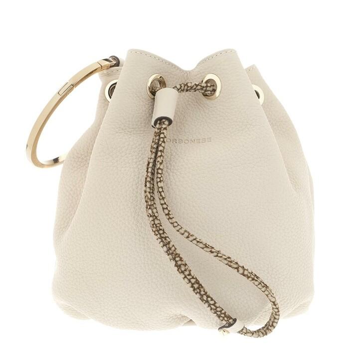Handtasche, Borbonese, Small Bucket Bag Beige