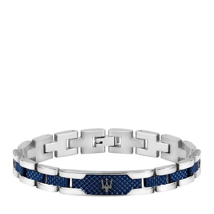bracelets, Maserati, Bracelet Ss+d.gun Blue