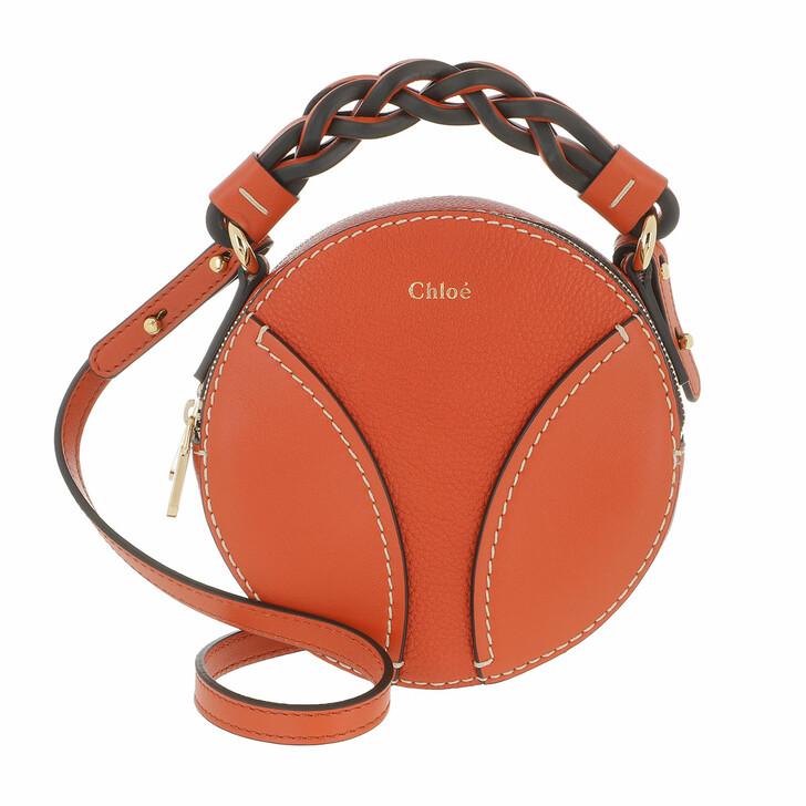 bags, Chloé, Round Daria Mini Crossbody Bag Leather Auburn Orange