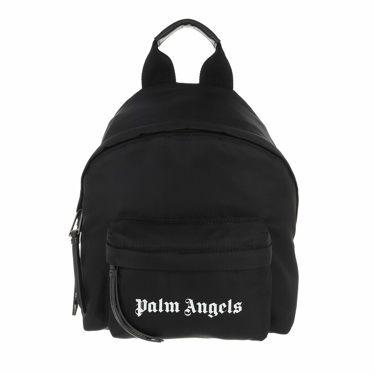 Reisetasche, Palm Angels, Essential Backpack    Black White