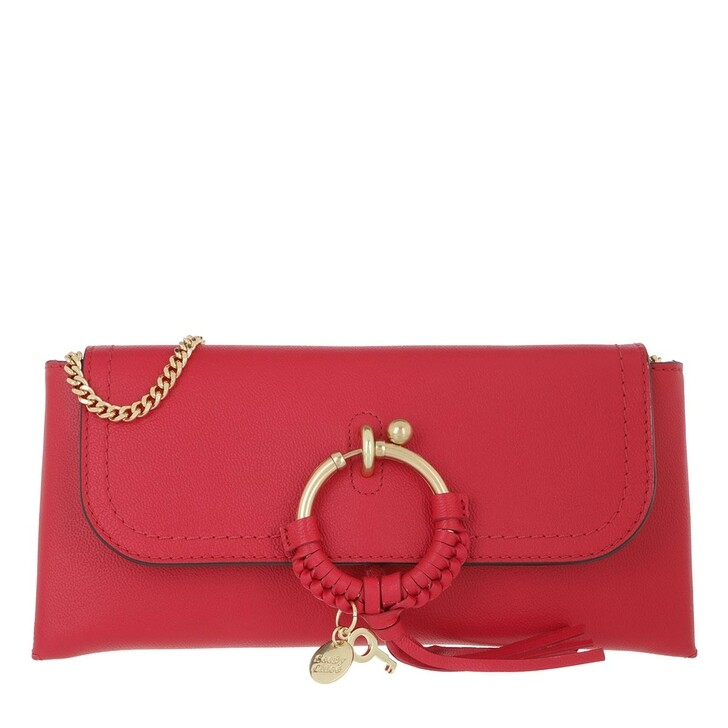 Handtasche, See By Chloé, Crossbody Cowhide Leather Suede Red Flame