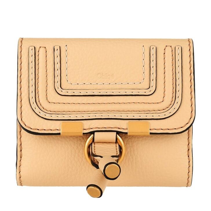 Handtasche, Chloé, Marcie Wallet Wooden Beige