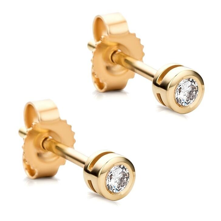 Ohrring, DIAMADA, 14KT Diamond Stud Earrings Yellow Gold
