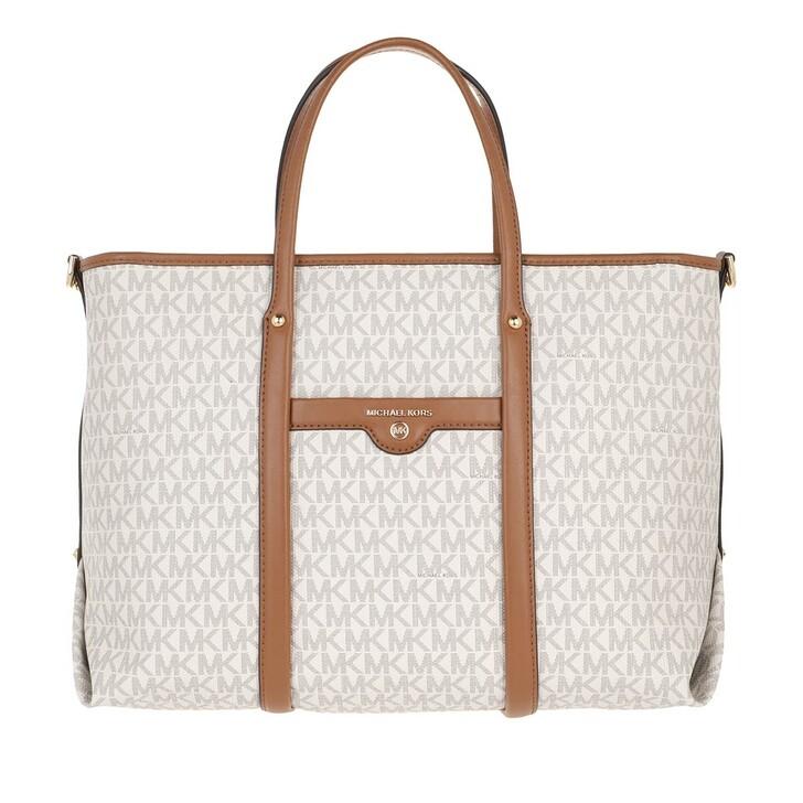 Handtasche, MICHAEL Michael Kors, Beck Medium Convertible Tote Bag Vanilla/Acorn