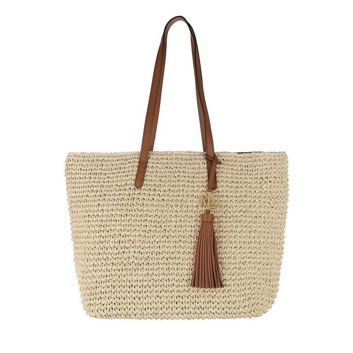 bags, Lauren Ralph Lauren, Whitney 29 Tote Medium Natural/Lauren Tan