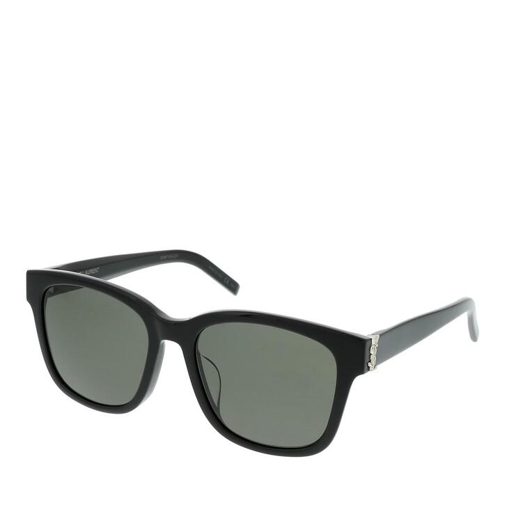 Sonnenbrille, Saint Laurent, SL M68/F-001 55 Sunglass UNISEX ACETATE Black
