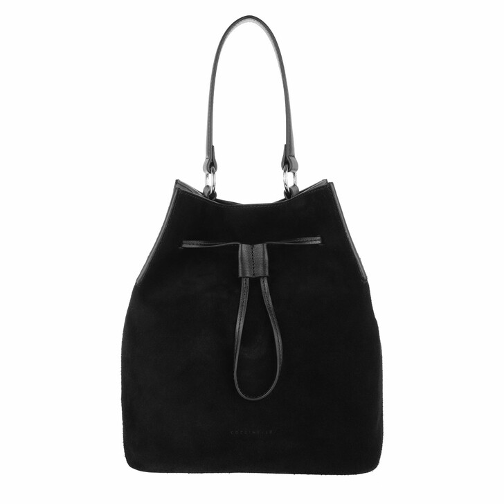 Handtasche, Coccinelle, Sandy Bimaterial Bucket Bag Noir