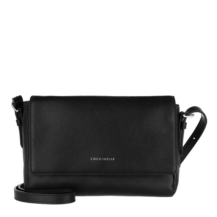 Handtasche, Coccinelle, Crossbody Bag Grained Leather Noir