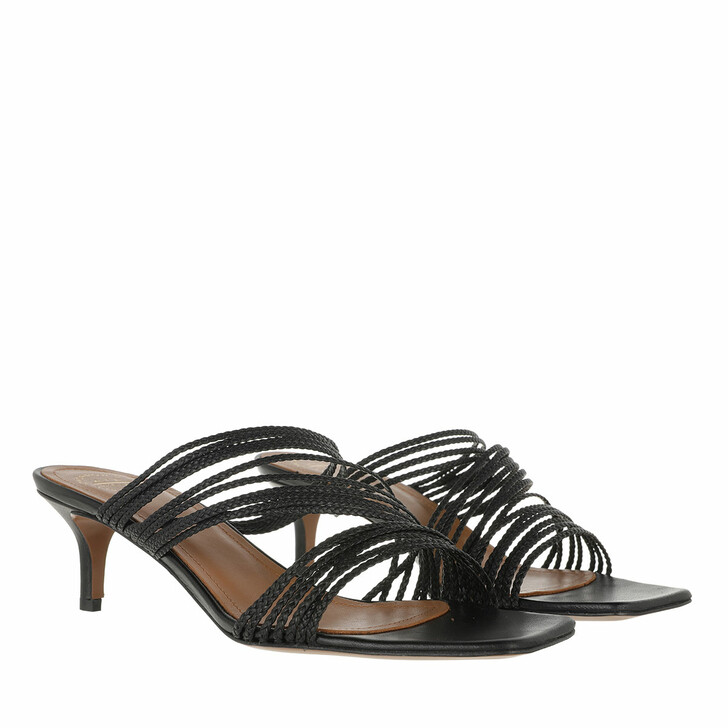 Schuh, ATP Atelier, Mid Heel Sandal Black