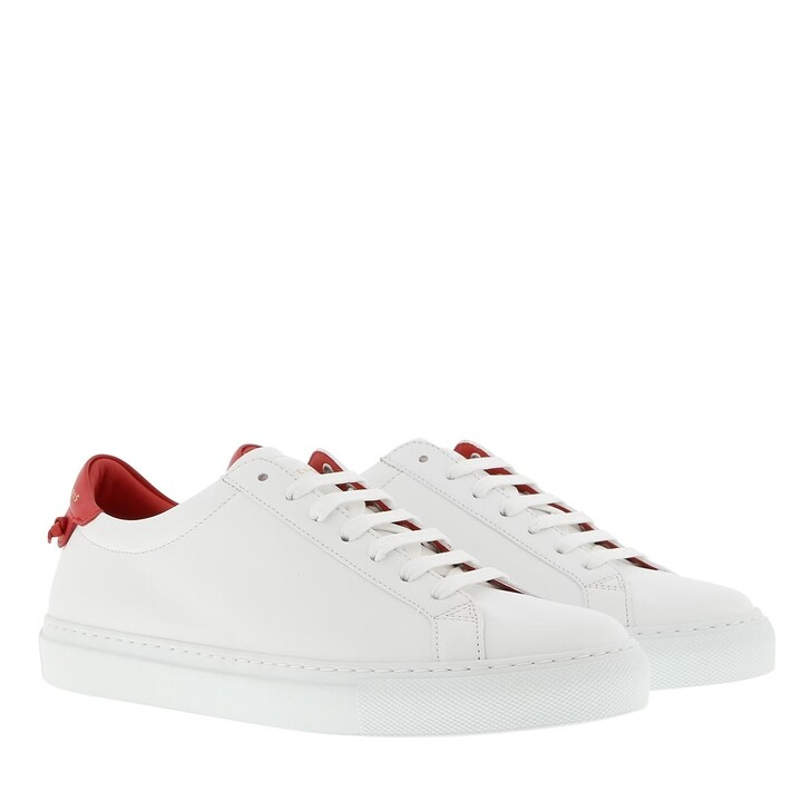 shoes, Givenchy, Sneakers Leather White Red