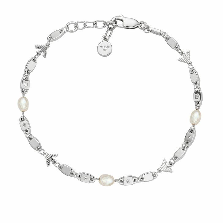 bracelets, Emporio Armani, Sterling Silver Chain-Link Bracelet Silver