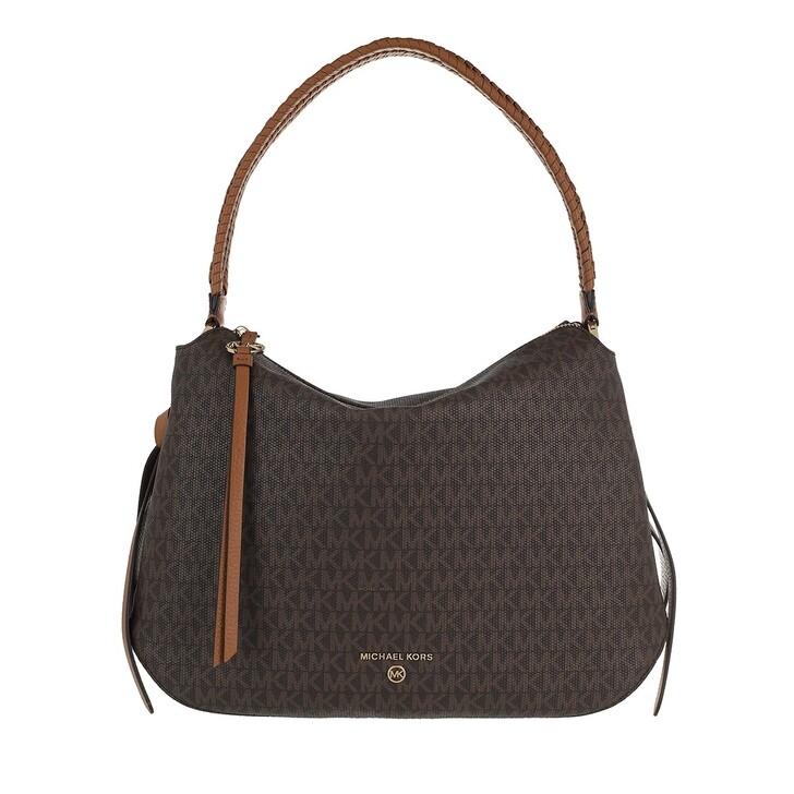 Handtasche, MICHAEL Michael Kors, Grand Large Hobo Shoulder Tote Brown/Acorn