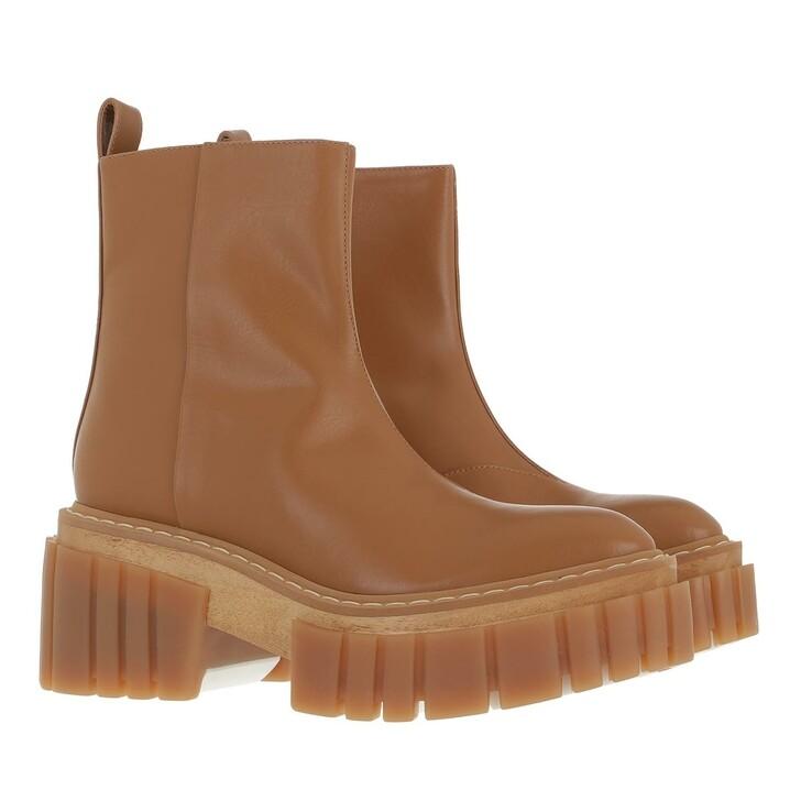 shoes, Stella McCartney, Emilie Boots Leather Camel