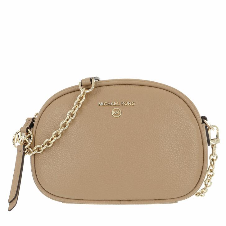 Handtasche, MICHAEL Michael Kors, Small Oval Camera  Handbag  Leather Camel