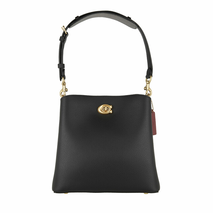 Handtasche, Coach, Polished Pebble Leather Willow Bucket Bag 21 B4/Black