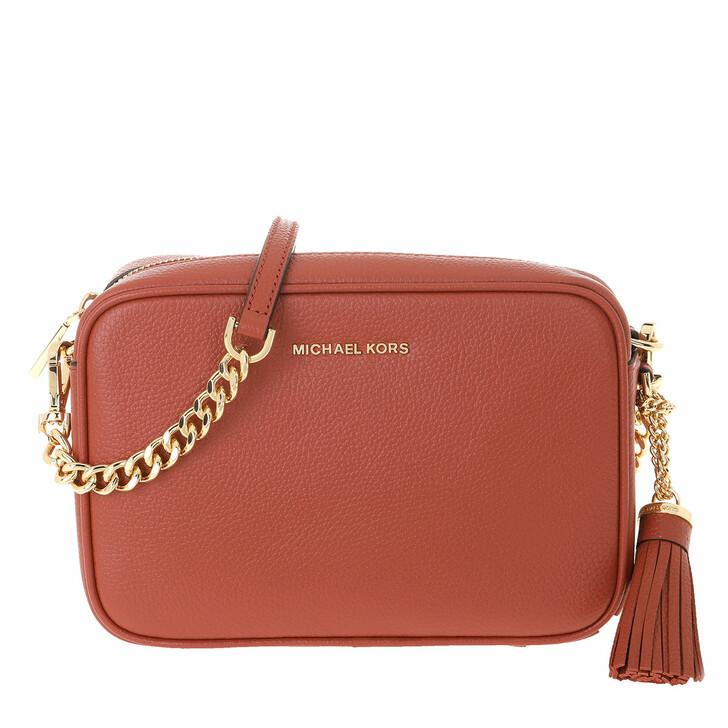 Handtasche, MICHAEL Michael Kors, Ginny Leather Crossbody Bag Terracotta