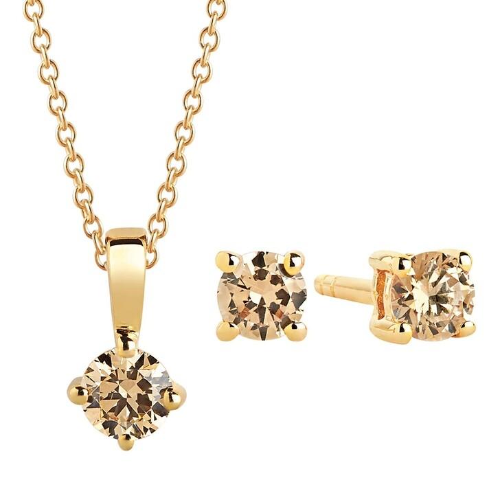 Kette, Sif Jakobs Jewellery, Princess Piccolo Round Set Yellow Gold