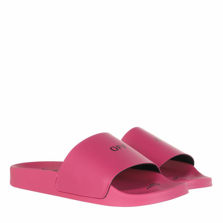 Schuh, Off-White, Pool Slider Fuchsia Black