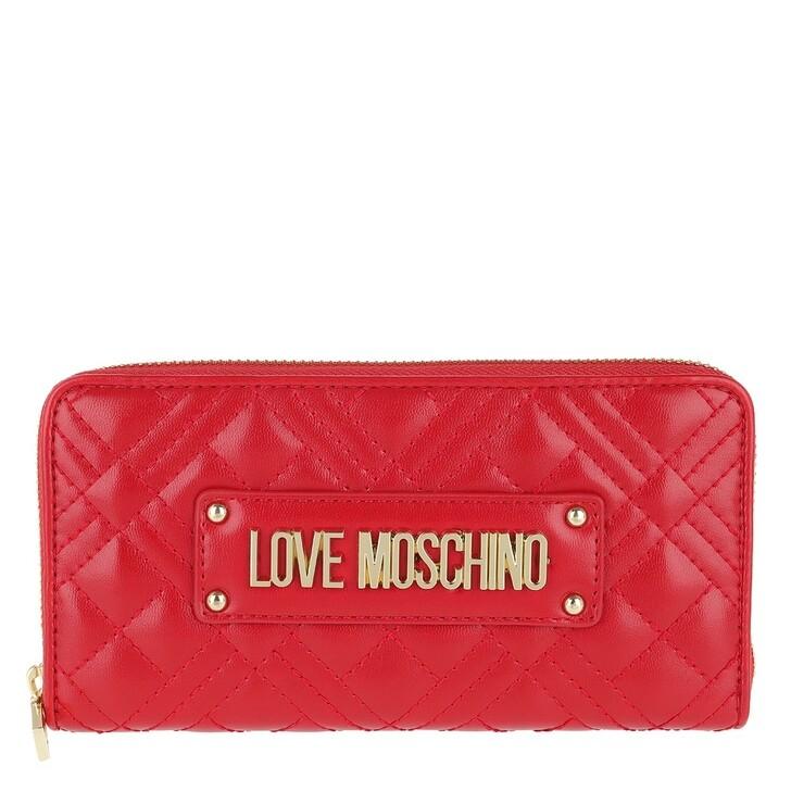 Geldbörse, Love Moschino, Portafogli Quilted Nappa Wallet Rosso