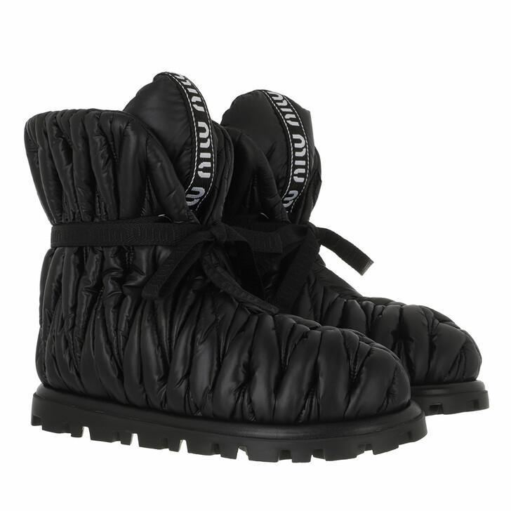 shoes, Miu Miu, Padded Bootie Nylon Black