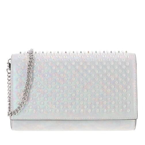 christian louboutin -  Clutches - Paloma Clutch Spikes Leather - in weiß - für Damen