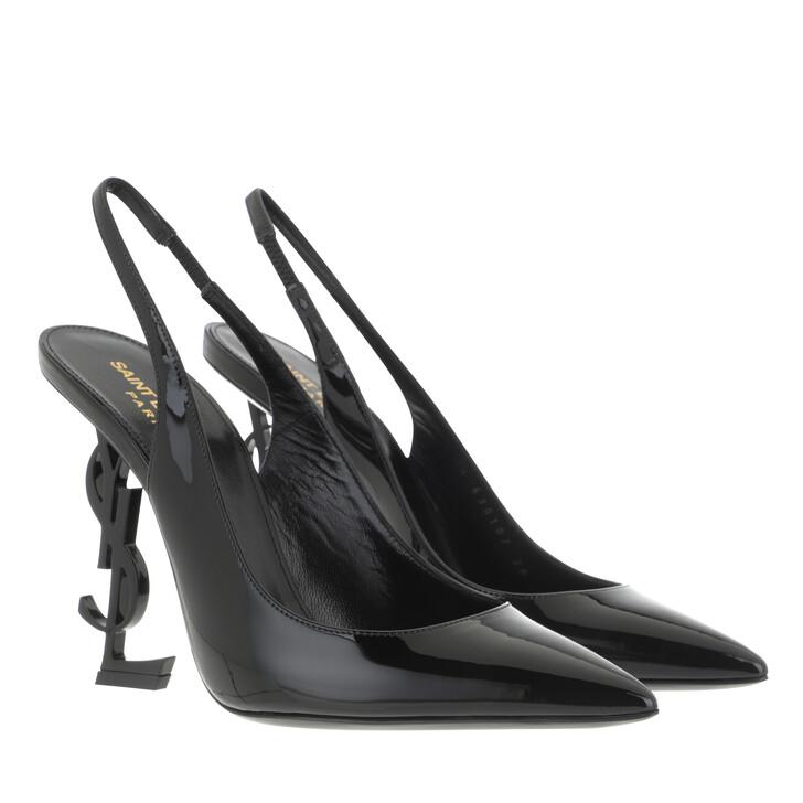Schuh, Saint Laurent, YSL Opyum 110 Slingback Pumps Black