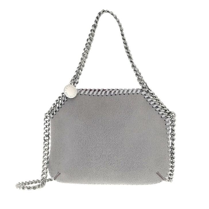 Handtasche, Stella McCartney, Falabella Mini Shoulder Bag Leather Light Grey