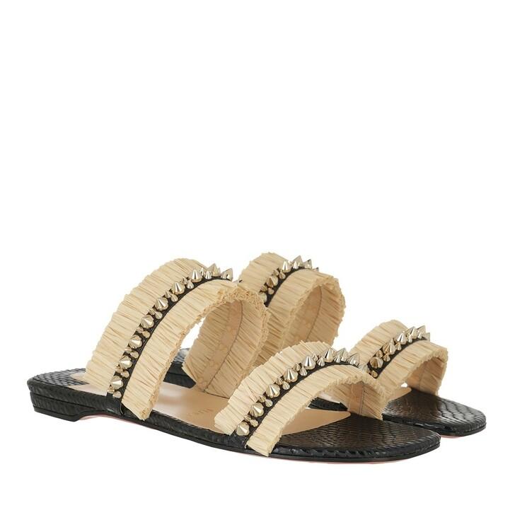 shoes, Christian Louboutin, Flat Mule Black Savane