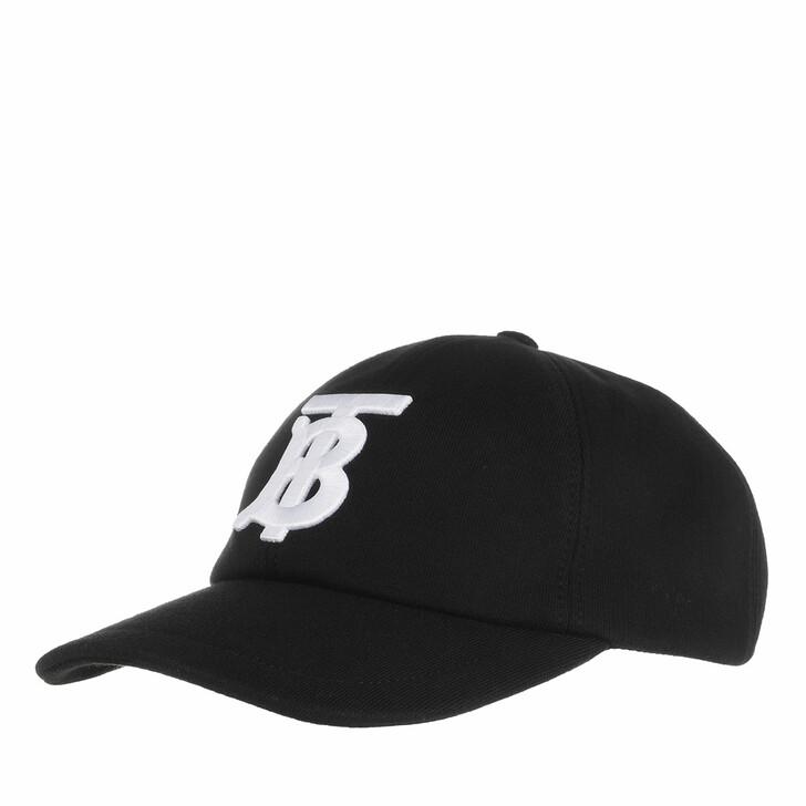 Mütze, Burberry, Monogram Embroidered Cap Black