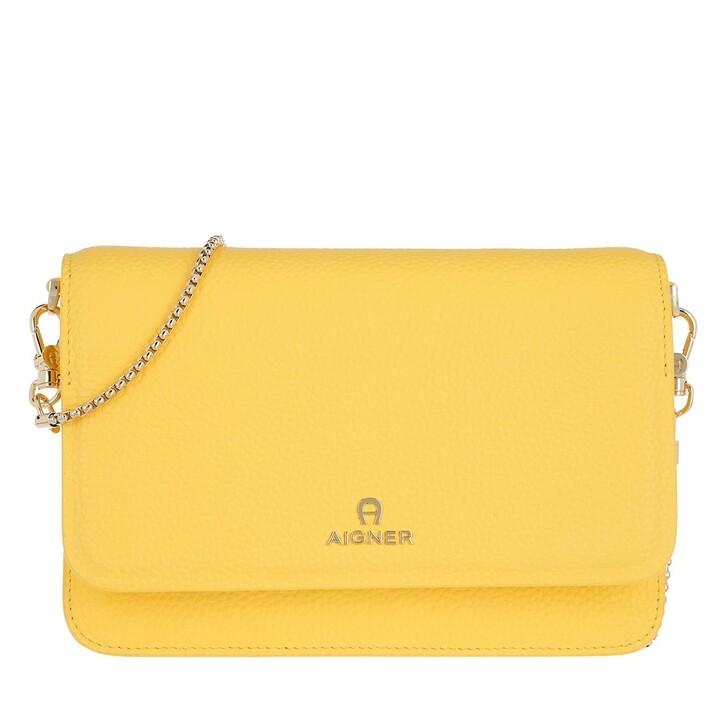 wallets, AIGNER, Crossbody Buttercup Yellow