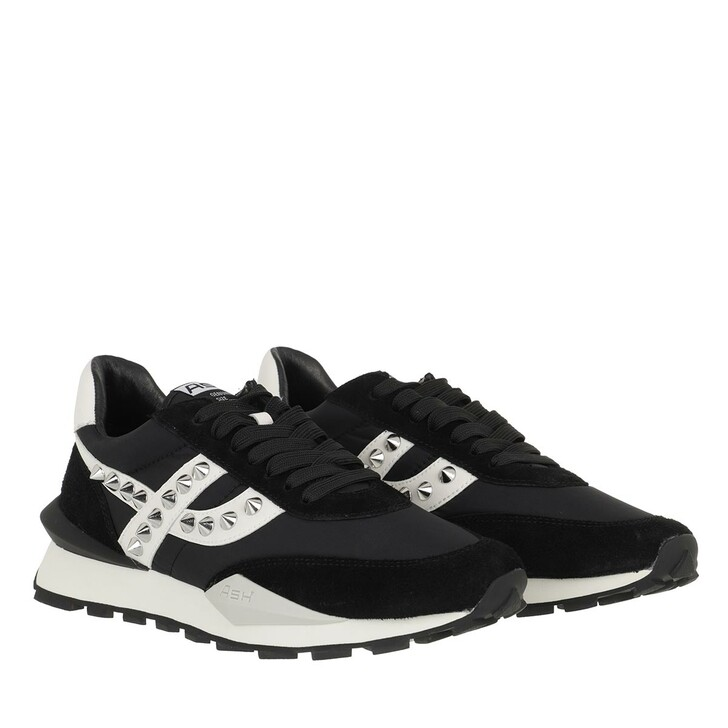 shoes, Ash, Spider Stud 09 Sneaker Suede Black/ White