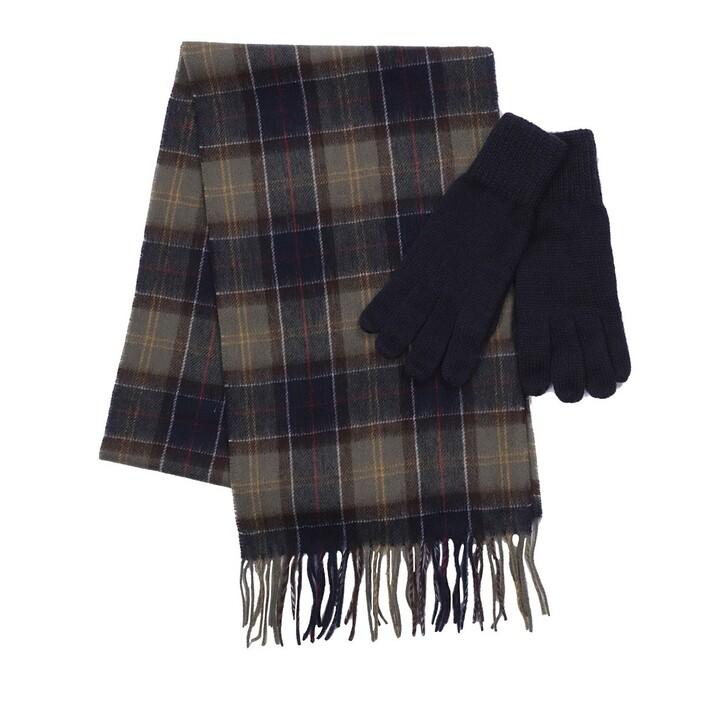 scarves, Barbour, Wool Tartan Glove Scarf Set Classic Tartan