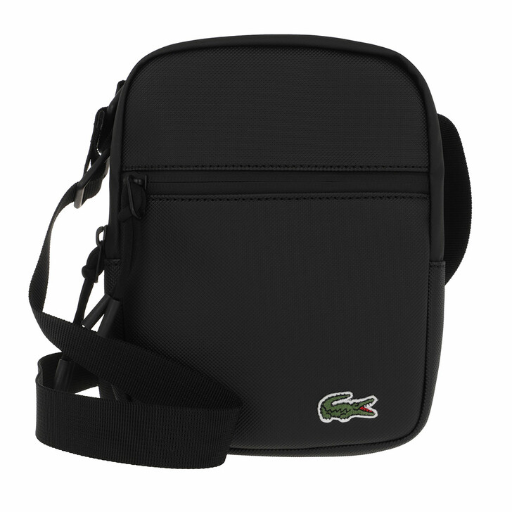 Handtasche, Lacoste, Small Flat Crossbody Black