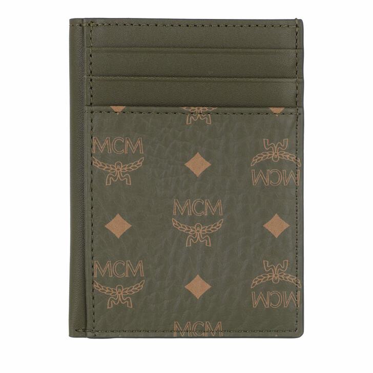 Geldbörse, MCM, Visetos Original New N/S Card Case,  Black