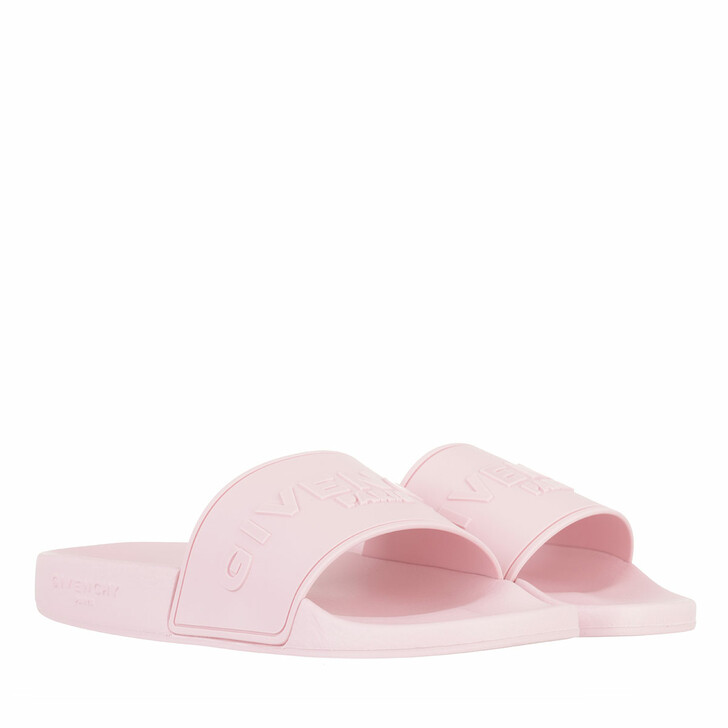 shoes, Givenchy, Slide Flat Sandals Baby Pink